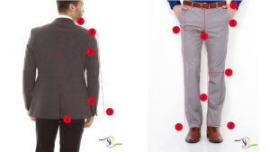 measure both jacket and trousers