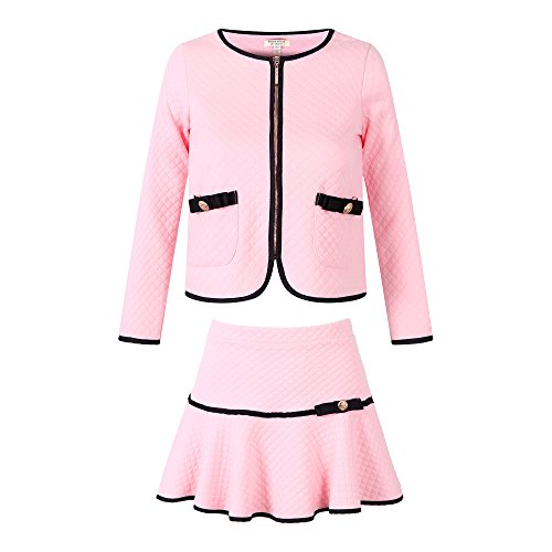 Richie House Girls' Elegant Knit Suit with Skirt Size 2-10 Rh1963