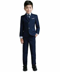 1-YuanLu Boys Colorful Formal Suits 5 Piece Slim Fit Dresswear Suit Set