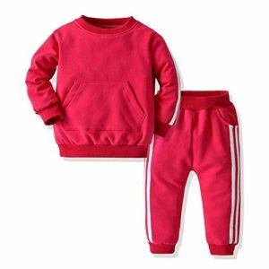 Joycebaby Unisex Baby Boys Girls Tracksuit 2-Piece Tricot Sweatshirt Jacket and Pant Active Clothing Set
