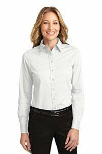 Port Authority L608 Ladies Long Sleeve Easy Care Shirt White Small