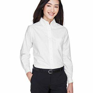 UltraClub Women's Wrinkle-Free Long Sleeve Oxford Shir