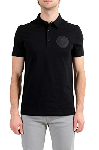 Versace Collection Men's Black Logo Short Sleeve Polo T-Shirt Sz US M IT 50