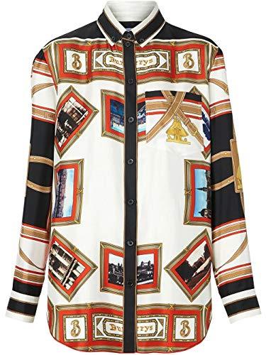 BURBERRY Luxury Fashion Womens 8014231 White Shirt | Fall Winter 19