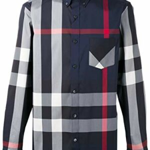 BURBERRY Men's Thornaby Blue Check Shirt 2XL