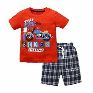 Baby Boys Summer Clothes Set 2pcs Cotton Shirt + Short Pants Kids Outfit Set
