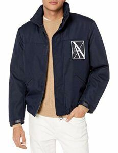 A|X Armani Exchange Men's Zip Up Reflective Jacket