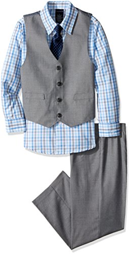 Nautica Boys' 4-Piece Vest Set with Dress Shirt, Bow Tie, Vest, and Pants