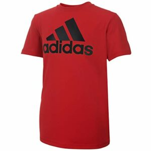adidas Boys' Big Stay Dry Moisture-Wicking Aeroready Short Sleeve T-Shirt