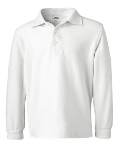 French Toast School Uniform Boys Long Sleeve Pique Polo Shirt