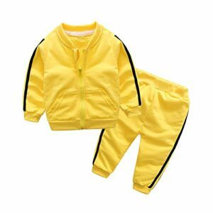 Moyikiss Studio Unisex Tracksuit Baby Boys Girls Clothes Cotton Long Sleeve Zipper Sweatshirt Jacket and Pants