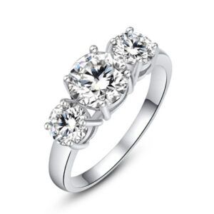 "Cubic Ring-Hollywood Sensations ""Crystal Dream Ring""-Cubic Zirconia Rings-Cubic Zirconia Engagement Rings"